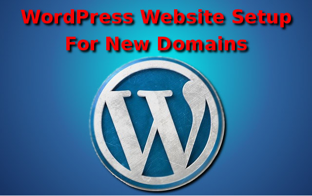 I will set up a basic wordpress website on your domain