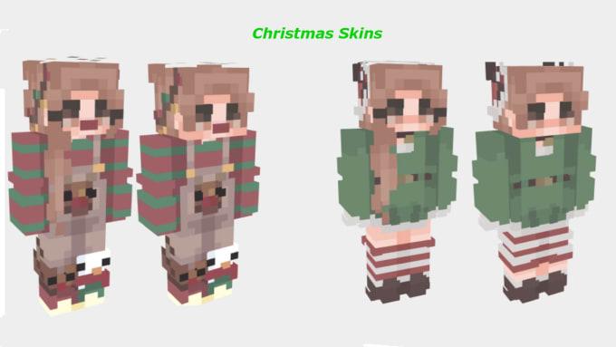 Minecraft Christmas Skins.Make You A Trendy Minecraft Skin
