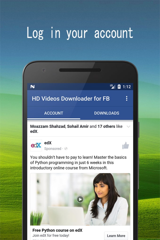muhammadabdu975 : I will give you facebook video downloader app source  codes for $50 on www fiverr com