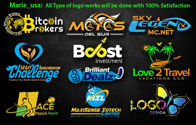 f990b235 Design modern company, business, brand website logo by Marie__usa