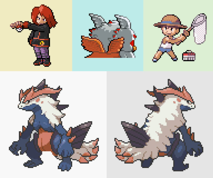 make pokemon style sprites for your game