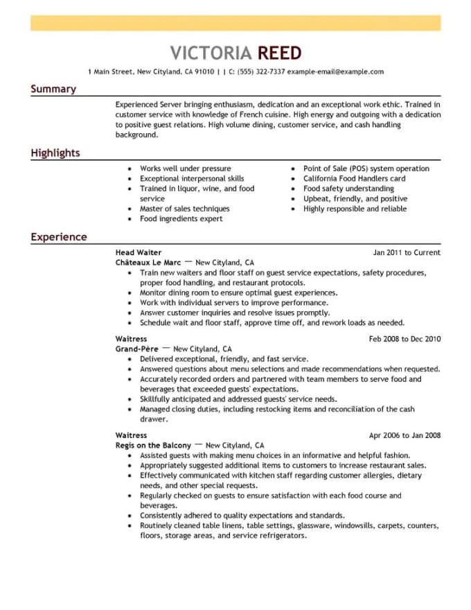 lets create you a flawless resume and cover letter