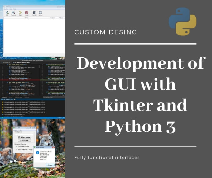 jsgonzlez661 : I will development of gui with tkinter and python for $5 on  www fiverr com