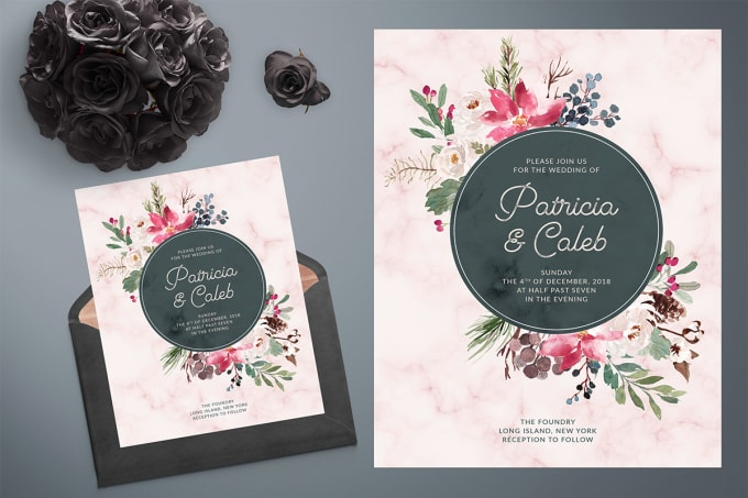 Design Beautiful Wedding Invitation Card By Richard 34