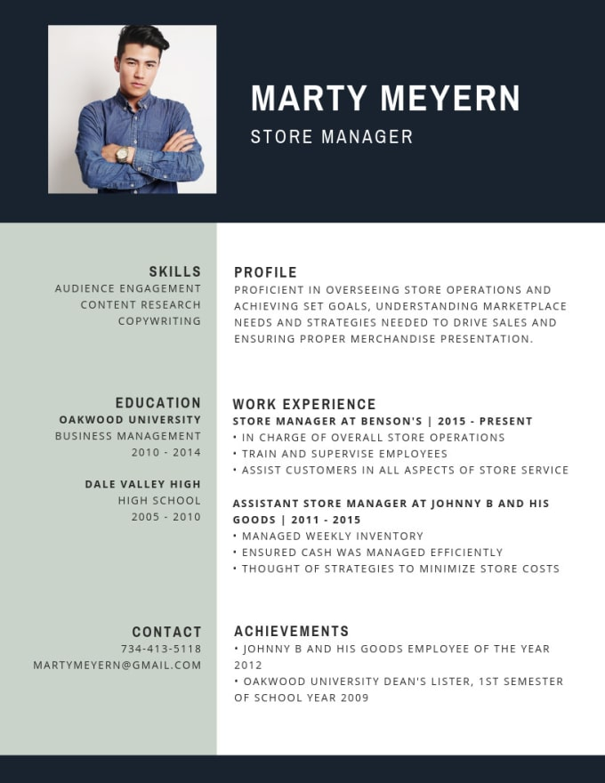 wesleymswan : I will write and design a modern resume and cover letter for  $5 on www.fiverr.com