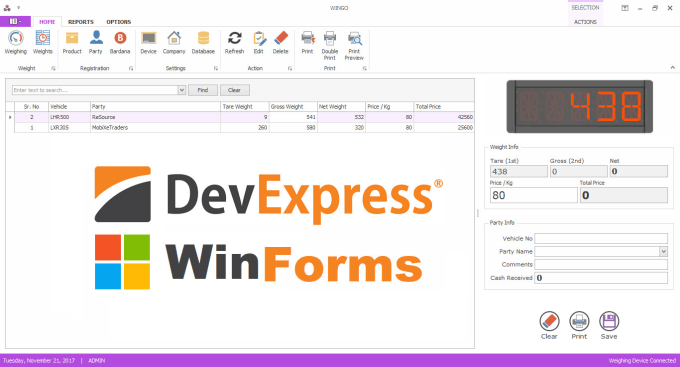 develop winform, wpf, devexpress desktop software