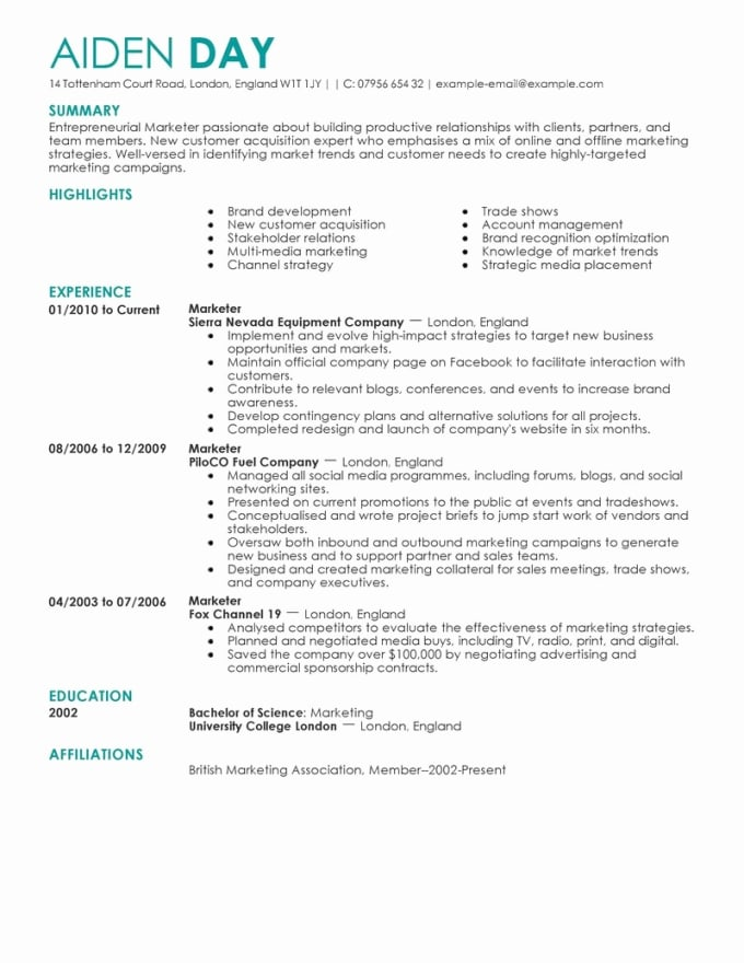 provide executive resume, cover letter writing service