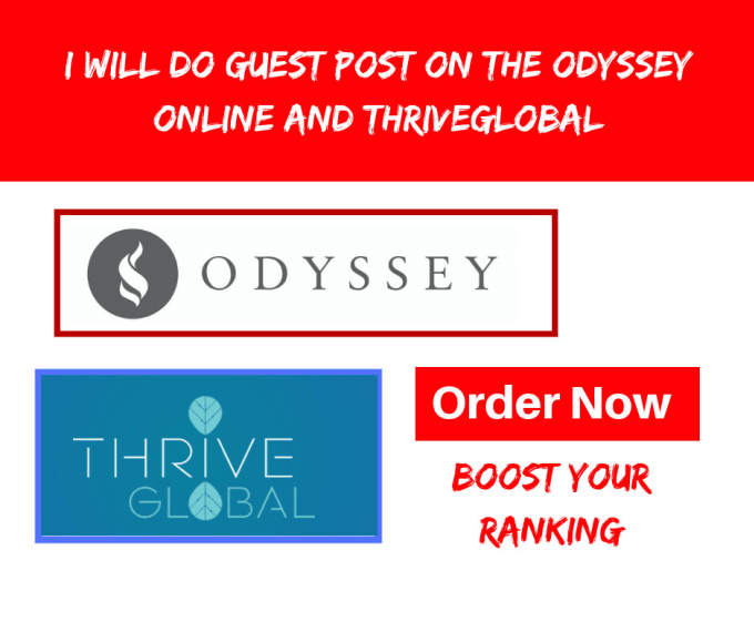 mhassan303 : I will do guest post on theodysseyonline for $15 on  www fiverr com