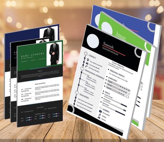 Design Impressive Resume Cv With Adobe Illustrator By Sourash