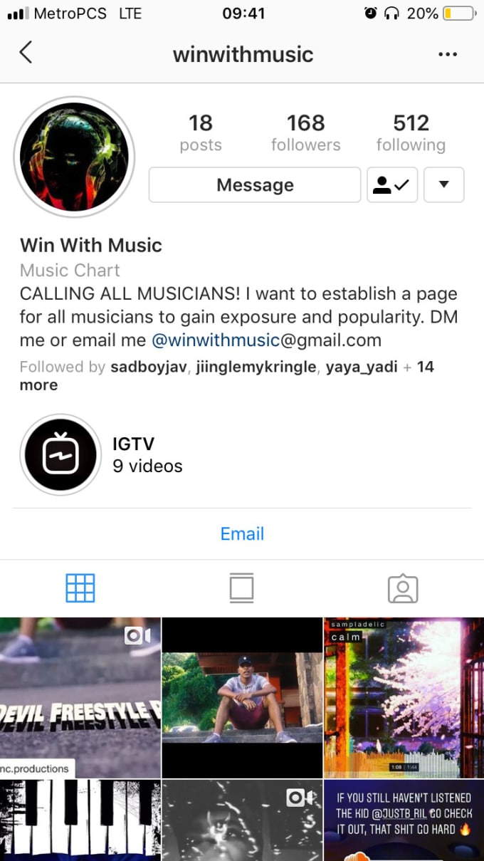 promote music artist and dancers on my instagram page