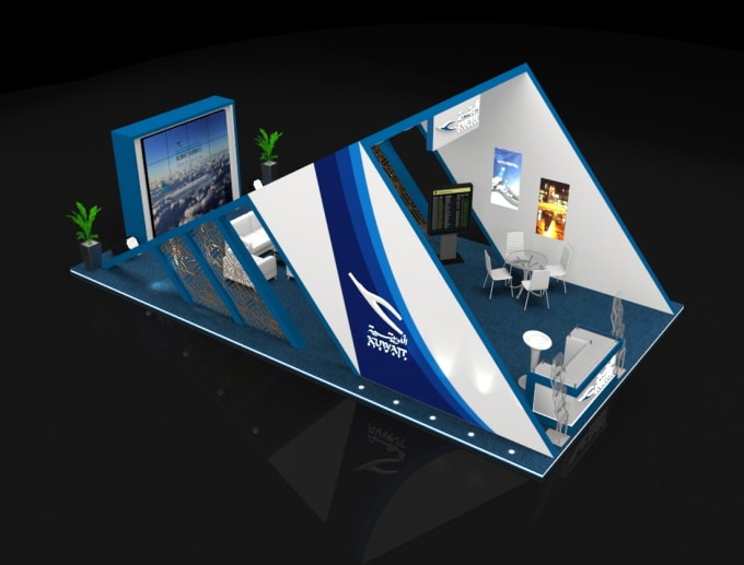 3d Exhibition Model : Design real d exhibition stand kiosk event stage and stall