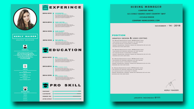 devtri : I will creative resume and cover letter professional for $5 on  www.fiverr.com