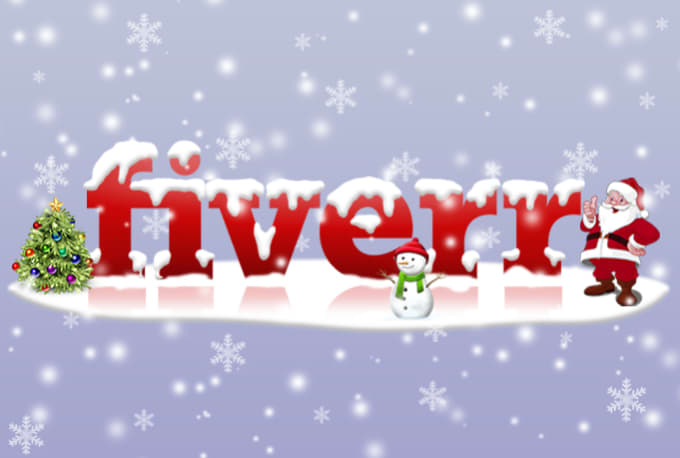 do a christmas themed logo makeover