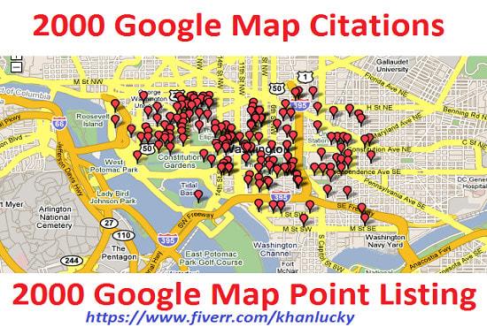 do manually 2000 google maps citations for local SEO