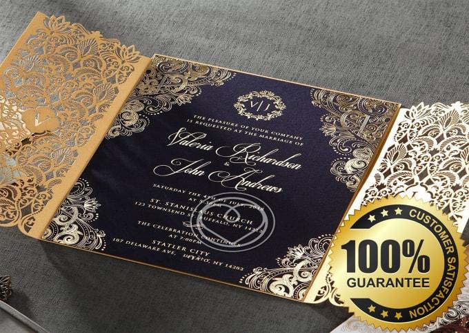 Luxury Wedding Invitations.Design Luxury Wedding Invitation Card