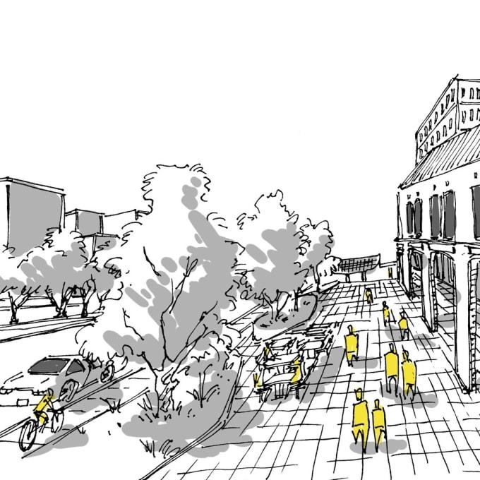 urban architecture sketches sketch draw screen