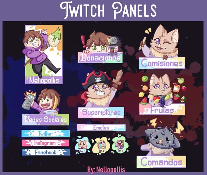 create a custom twitch panels