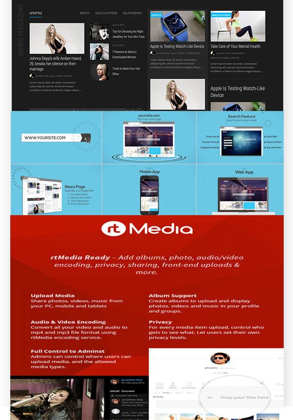 develop online community entertainment website
