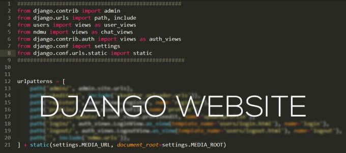 code you a django website