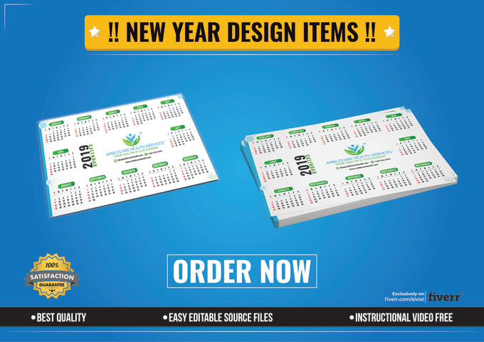alvial : I will design new year calendar flyer social cover banner ads for  $10 on www fiverr com