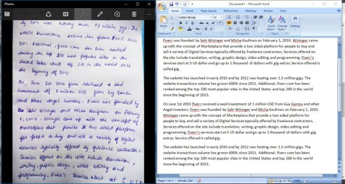 convert handwritten notes into txt within 30 min