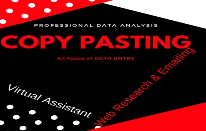 do data entry, typing job, excel, ppt, emails copypaste