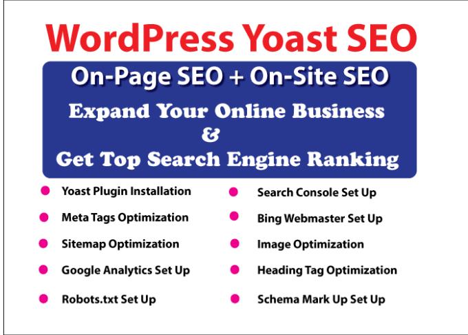 Do wordpress yoast seo on page optimization by Deepakdipu