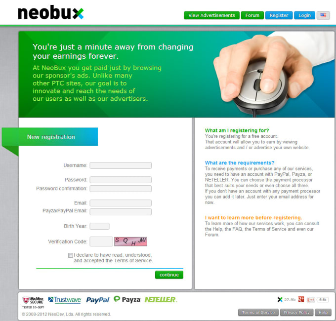 How To Register Neobux Sites Like Neobux – IFP R Leclercq
