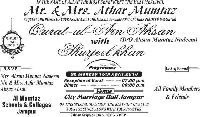 Salmansahil333 I Will Attractive Design Your Wedding Invitation Card For 10 On Www Fiverr Com