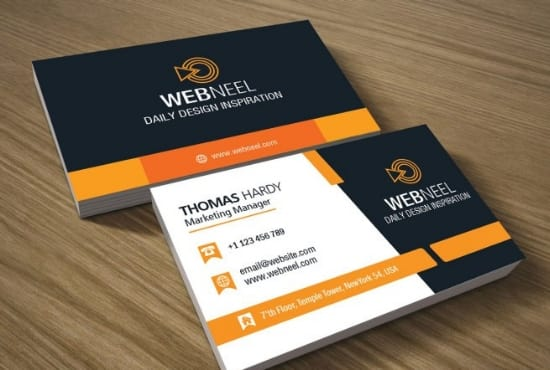 design business card with two concepts and brand design