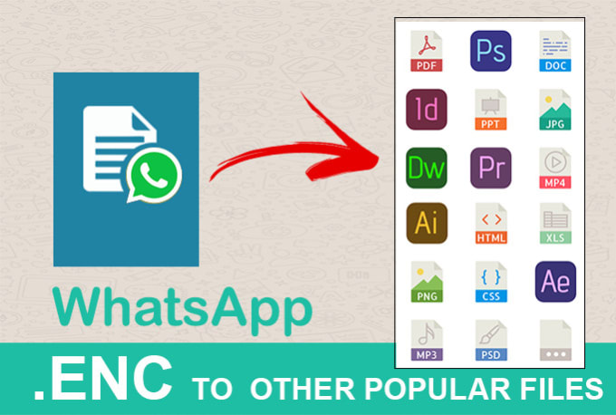 convert whatsapp enc format into any other format