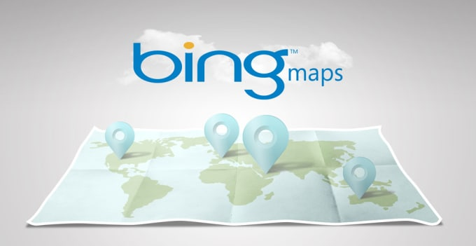 Do any work related to bing maps by Googlemaps123