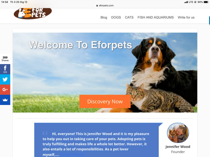 guest post on my pets blog dofollow index link
