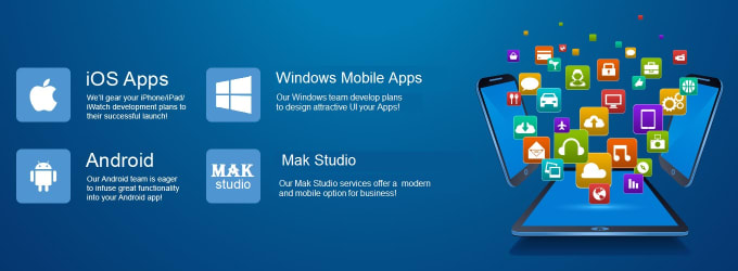 design android, window and ios mobile apps