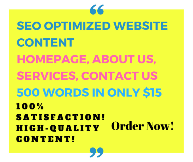 bhavleensingh : I will write unique SEO website content for $15 on  www fiverr com