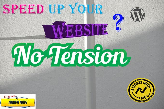 I will speed up wordpress website
