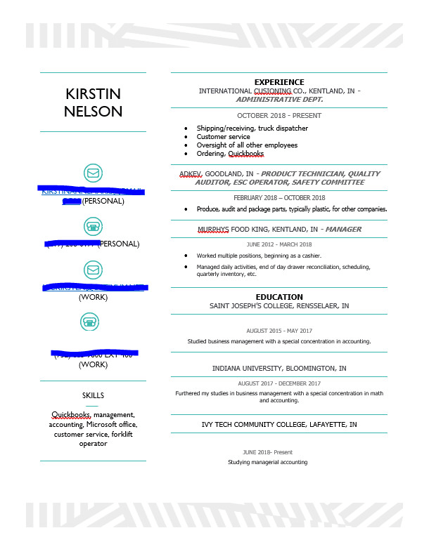create a resume or cover letter