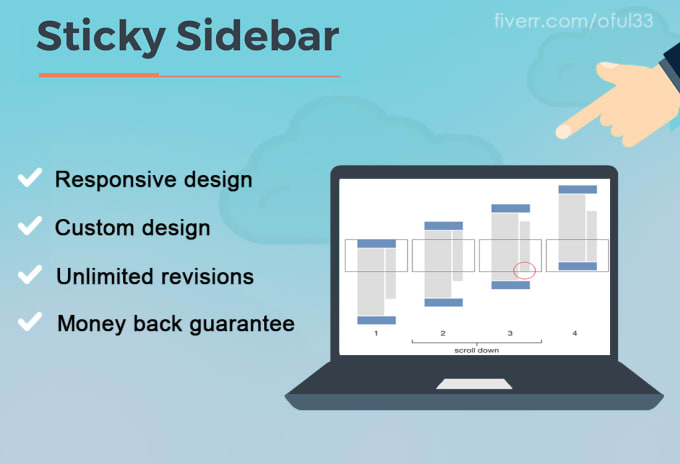oful33 : I will install a jquery sidebar that stays on screen when  scrolling for $5 on www fiverr com