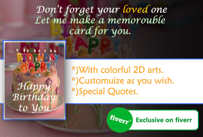 I Will Make A Birthday Card With Free Video Clip