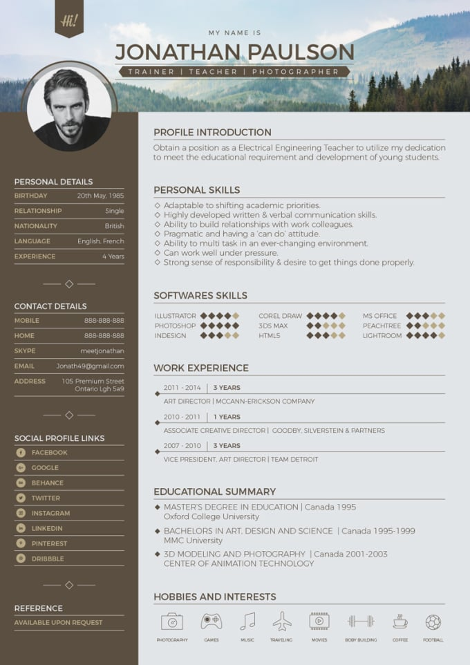 professionally rewrite your resume,cover letter and linkedn profile