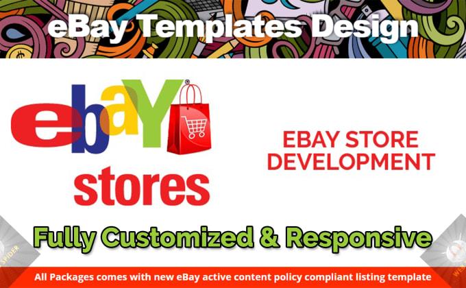 669c764848 Design custom ebay store and listing template design by Raohaider