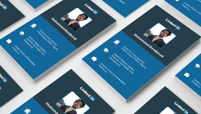 Design Your Business Card In Linkedin Style By Sedik20
