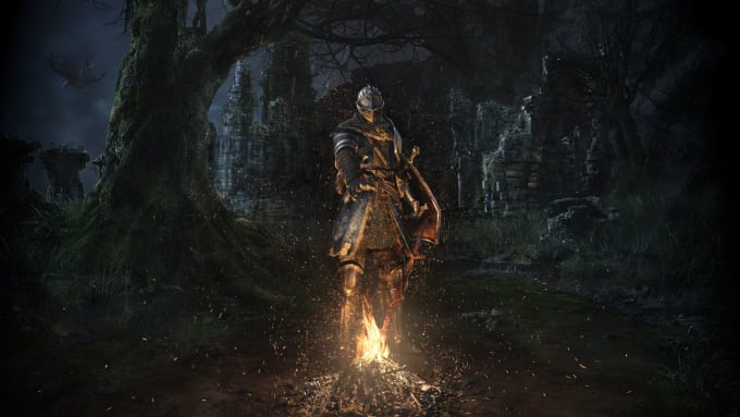 drop you any item in darksouls 3 and give you souls