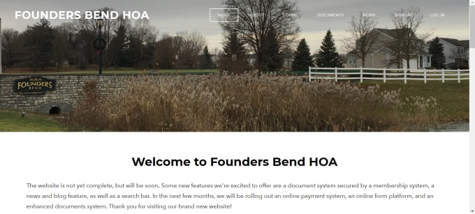 create a website for an hoa on weebly