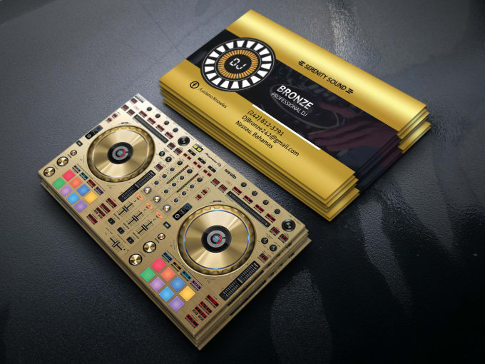 Design your dj business card by Graphictool