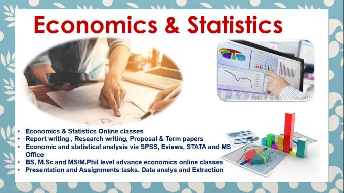 alamgirkhan33 : I will teach online classes of statistics and economics for  $5 on www fiverr com