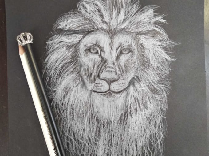 Sketch Realistic Drawings On Black Or White Background By