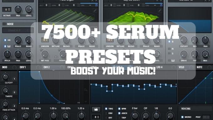 send 7500 serum presets