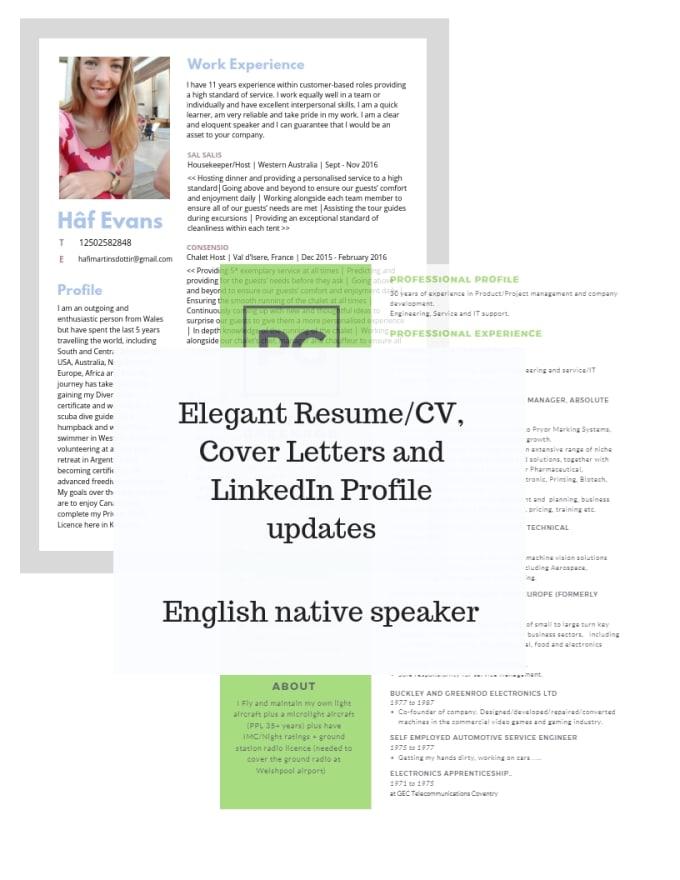 Create An Elegant Resume Cover Letter Or Linkedin Profile By Hafimartin