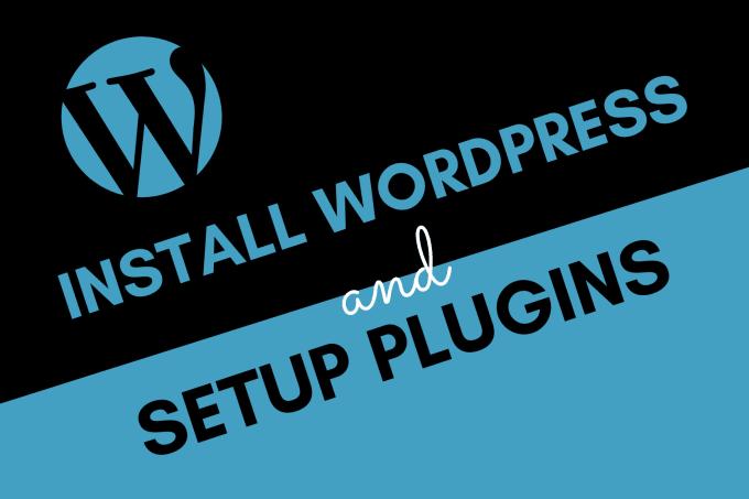 install wordpress and setup plugin on your hosting